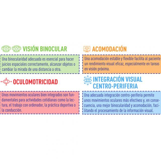 4 habilidades que trata la Optometría Comportamental en la entrada de información visual