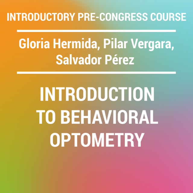 INTRODUCTORY PRE-CONGRESS COURSE