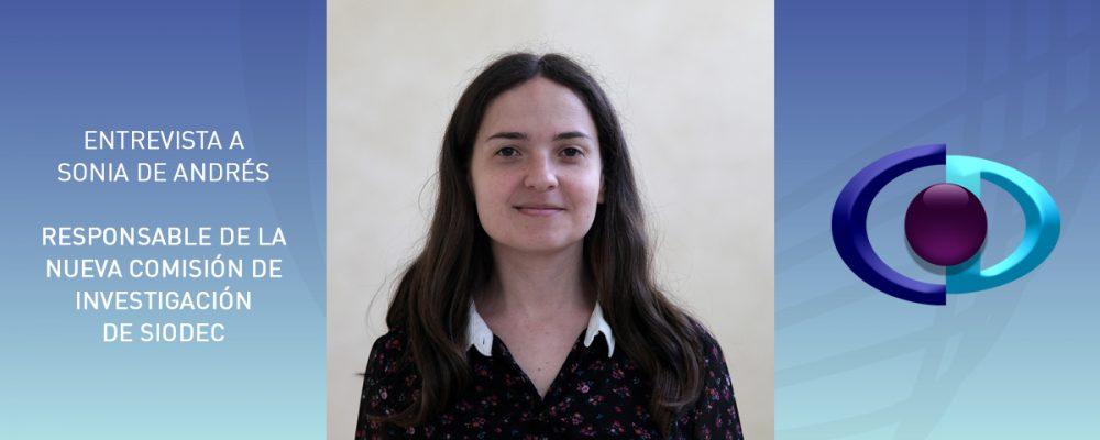 """Sonia de Andrés: """"Desde la nueva comisión de Investigación de SIODEC pretendemos colaborar con universidades para abrir nuevas líneas de investigación"""""""